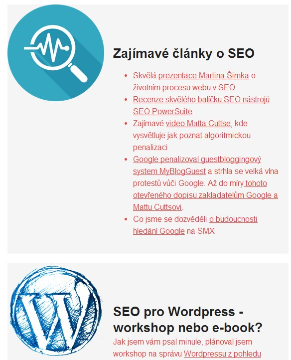 Newsletter o SEO