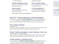 Vyhledávání Content marketing