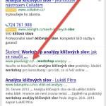 Z výsledků mobilního vyhledávání zmizí domény webů