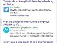 Vyhledávání hashtagu #maythe4bewithyou