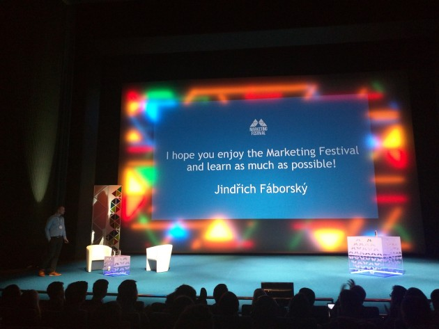 Jindra Fáborský zahajuje Marketing Festival